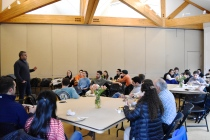 Soldiers from Brothers for Life speak at Bagel Brunch
